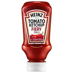 Heinz Tomato Ketchup With Fiery Chilli From Ocado Invitation Mexican Chilli, Chile, Food Packaging, Packaging Design, Label Design, Mayonnaise, Ketchup, Dips, Food Porn