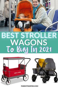 Are your kids growing out of the stroller? Here are some of the best stroller wagons to buy in 2021 to make choosing a stroller wagon that much easier! #beststrollerwagons2021 #beststrollerwagonstobuy Quad Stroller, Convertible Stroller, Good Parenting, Parenting Humor, Parenting Hacks, Double Strollers, Baby Strollers, Folding Wagon, Radio Flyer