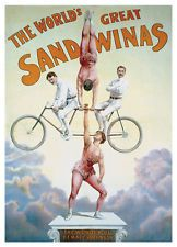 The Great Katie Sandwina Tandem Bicycle Circus Poster