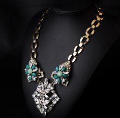 Wholesale New Design Jewelry Accessories Lady Fashion Gorgeous Bling Crystal Bib statement necklace Collar|MT-N00547|Necklaces