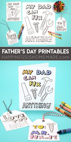 Free Father's Day Printable Card & Coloring Page - Show Dad how much you love him with this free printable Father's Day card and Father's Day coloring page set! There's even a bonus set of Father's Day gift tags, too! Bible Coloring Pages, Coloring Pages For Boys, Free Printable Coloring Pages, Father's Day Printable, Gift Tags Printable, Free Printables, Homeade Gifts, Homemade, Sunflower Coloring Pages