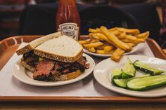 The famous pastrami sandwich from Kat'z Deli (NYC)