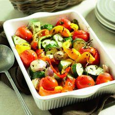 Boodschappen - Gegrilde groenteschotel Tapas, Vegetarian Recipes, Healthy Recipes, Diet Recipes, Good Food, Yummy Food, Vegan Main Dishes, Fat Burning Foods, Evening Meals