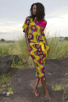 wax print fashion african design