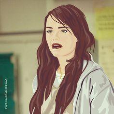 WTF... Pennsatucky aka Taryn Manning @tarynmanning from @oitnb ... I really like her, she's the chosen one   #TarynManning #Pennsatucky #OrangeIsTheNewBlack #OITNB #Netflix #fanart #fanartfriday #vector #illustration