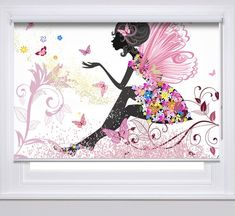Spring fairy romantic photo printed custom made window roller blind Trendy Bedroom, Girls Bedroom, Office Paint Colors, Spring Fairy, Blinds Design, Printed Curtains, Romantic Photos, Roller Blinds, Blinds For Windows
