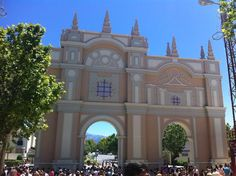 Main entrance to the Corpus Fair in  Granada Spain. Read more about this Andalusia fiesta > http://www.spain-holiday.com/Granada-city/articles/all-the-fun-of-the-fair-corpus-christi-in-granada-spain