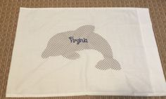 Dolphin appliqué pillowcase