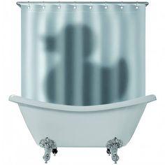 Занавеска для ванной с уткой