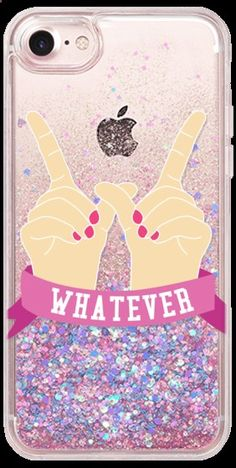 Cell Phone Cases - Casetify iPhone 7 Glitter Case - Whatever by Confetti - Welcome to the Cell Phone Cases Store, where you'll find great prices on a wide range of different cases for your cell phone (IPhone - Samsung) Cool Cases, Cool Iphone Cases, Iphone Phone Cases, Iphone 8, Girly Phone Cases, Accessoires Iphone, Coque Iphone 6, Iphone Accessories, Mobiles