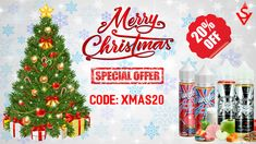 Vapesweet's Christmas 2020 sale is on, we offer you 20% on all products (Code: XMAS20), enjoy it!