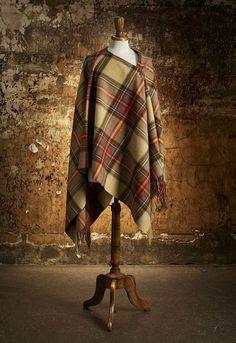 Tartan Ruana -Antique Dress Stewart - My families tartan Tartan Clothing, Scottish Dress, Tartan Fashion, Capes & Ponchos, Scottish Tartans, Blazers, Tartan Plaid, Shawls And Wraps, British Style