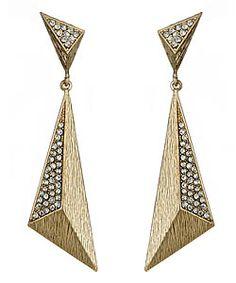 Blu Bijoux Goldtone Geometric Drop Earrings