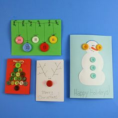 iLoveToCreate Blog: Button Christmas Cards for Kids