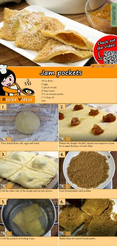 The Jam pockets is a stellar dessert that's impossible to mess up! You can easily find the recipe by scanning the QR code in the top right corner! Easy Whole 30 Recipes, Quick Easy Meals, Sweet Recipes, Hungarian Desserts, Hungarian Recipes, Soup Recipes, Dessert Recipes, Cooking Recipes, Cooking Fish