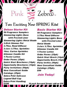 $365 worth of Pink Zebra Product for only $99.00 plus get 100 PINK DOLLARS.  Price only good till the end of May, www,pnkzdenise.com