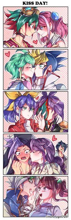 Yuya, Yuzu, Rin, Yugo, Serena, Yuri, Yuto, Ruri, Shun, Zarc and Ray