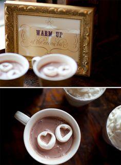 Asian Wedding Ideas - A UK Asian Wedding Blog: Wedding Ideas For Autumn or Winter - Hot Chocolate Bar & Favors