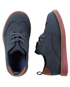 Baby Boy OshKosh Wingtip Oxfords from OshKosh B'gosh. Shop clothing & accessories from a trusted name in kids, toddlers, and baby clothes. Toddler Boy Fashion, Little Boy Fashion, Toddler Outfits, Baby Boy Outfits, Toddler Boys, Kids Outfits, Baby Kids, Cute Baby Shoes, Baby Boy Shoes