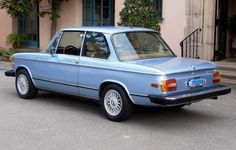 1974 BMW 2002tii Blue For Sale Front Rear