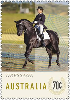 The Equestrian Events stamp issue pays tribute to the equestrian clubs around Australia which collectively house around 50,000 members. The issue highlights different disciplines, including dressage, showjumping and eventing. http://auspo.st/U93Xn6