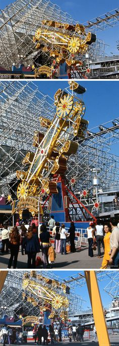 The 'Zipper' at La Ronde, 1970 Expo 67 Montreal, Montreal Ville, Montreal Quebec, Old Pictures, Old Photos, Circus Train, Laval, World's Fair, Amusement Parks