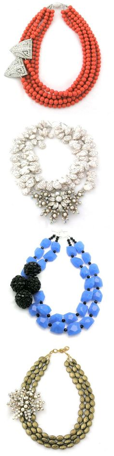 elva fields jewelery by hanan.crystal i usually achieve near this look by securing brooch on plane beaded necklace. Delicate Jewelry, I Love Jewelry, Statement Jewelry, Diy Jewelry, Beaded Jewelry, Jewelry Accessories, Jewelry Necklaces, Beaded Necklace, Jewelry Design
