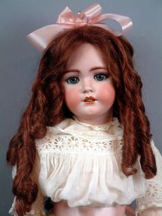 31 Huge Simon & Halbig 1248 Santa Antique Doll In Great Condition Old Dolls, Antique Dolls, Vintage Dolls, Porcelain Doll Makeup, Porcelain Dolls Value, China Dolls, German Girls, Bisque Doll, Doll Face