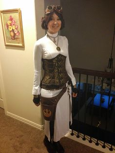 GLITZY GEEK GIRL: Tutorial: Steampunk Princess Leia Cosplay