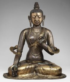 Buddhist Statue of White Tara: Made in Dolonnor, Chahar Province, Inner Mongolia, ca. 18th-19th century, gilt bronze.
