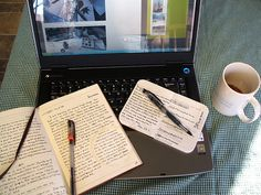 Journal and coffee - morning routine
