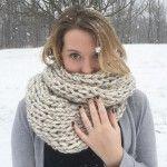 Gargantuan scarf free infinity scarf knitting pattern