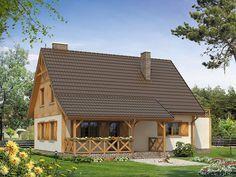 Projekt Kawka 3 (108,26 m2). Pełna prezentacja projektu dostępna jest na… Home Fashion, Cabin, House Styles, Home Decor, Homemade Home Decor, Interior Design, Cottage, Home Interiors, Wooden Houses