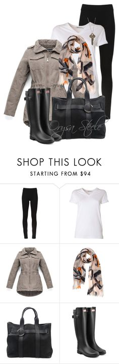"""Rainy Days and Monday"" by orysa ❤ liked on Polyvore featuring DKNY, T By Alexander Wang, Marc New York, Dagmar, Hermès, Hunter and The Giving Keys"
