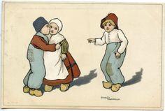 CARTE-POSTALE-ILLUSTRATEUR-ETHEL-PARKINSON-ENFANT