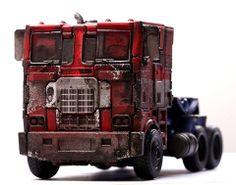 Transformers News: MILK Magazine Transformers: Age of Extinction Evasion Mode Optimus Prime Custom