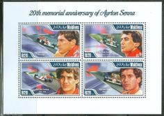 MALDIVE ISLANDS 2014 20th MEMORIAL ANNIVERSARY OF AYRTON SENNA SHEET MINT NH