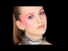Sculpted Blush and Lash Overload - Editorial/Trend Makeup Look - YouTube
