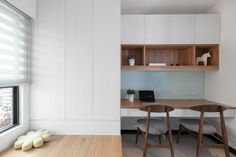 see blue/grey tones similar shelving to 'interior designs mara' desk to wrap around adapt for study/lounge?