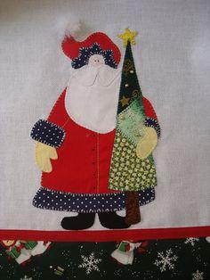 Pano de prato - Papai Noel by retalhinhos de amor por Cida Miranda, via Flickr