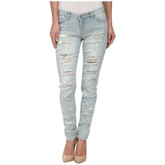 Blank NYC Denim Ripped Skinny in Dreamathon Women's Jeans (1 215 ZAR) ❤ liked on Polyvore