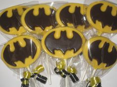 Batman Super Hero Marval Chocolate Lollipop by TheSweetsMaster, $40.00