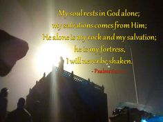My soul rests in God alone; my salvations come from him; he alone is my rock and my salvation; he is my fortress, I will never be shaken. ~Bible #ShriPrashant #Advait #bible #jesus #god #faith #gratitude #alone #grace #firm #life  Read at:- prashantadvait.com Watch at:- www.youtube.com/c/ShriPrashant Website:- www.advait.org.in Facebook:- www.facebook.com/prashant.advait LinkedIn:- www.linkedin.com/in/prashantadvait Twitter:- https://twitter.com/Prashant_Advait