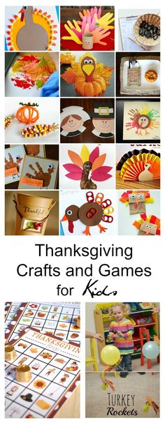 Thanksgiving | Need some ideas to keep the kids busy while you are cooking Thanksgiving dinner, these Thanksgiving Crafts and Games for Kids are sure to help.