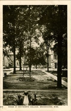 Whitworth College, 1858-1976; initially a women's college and successor to Elizabeth Female Academy; claimed to be 1st college in U.S. to grant degrees to women; manuscript collection at University of Southern Mississippi archives; merged with Millsaps in 1938; operated as Whitworth Bible College from 1976-1983 by several local business people; now location of Mississippi School of the Arts