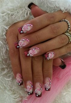 Day 325: Rosy Nail Art - - NAILS Magazine