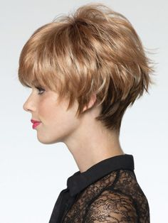 Ivy, This classic, fun short styled wig is complimented by it's textured soft wispy layers, amazing volume, movement and versatility. Melbourne, ships Australia wide. http://www.creativewigs.com.au