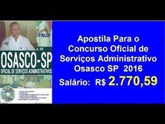 Apostila Edital Concurso Oficial de Serviços Administrativo [Osasco SP  ...
