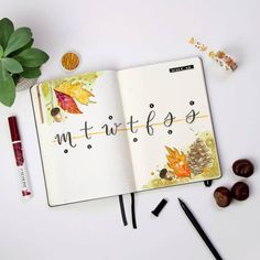 Choose from 20 Fall Weekly Spread designs that are perfect for your Bullet Journal. Get these amazing ideas for your weekly layouts and fall aesthetics! Bullet Journal September, Bullet Journal Weekly Layout, Bullet Journal For Beginners, Bullet Journal Spread, Bullet Journal Ideas Pages, Bullet Journal Inspiration, Bullet Journals, Moleskine, Paper Plane