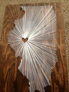 I want to do this with Great Britain. String art project - place the heart in your favorite part of #Illinois!